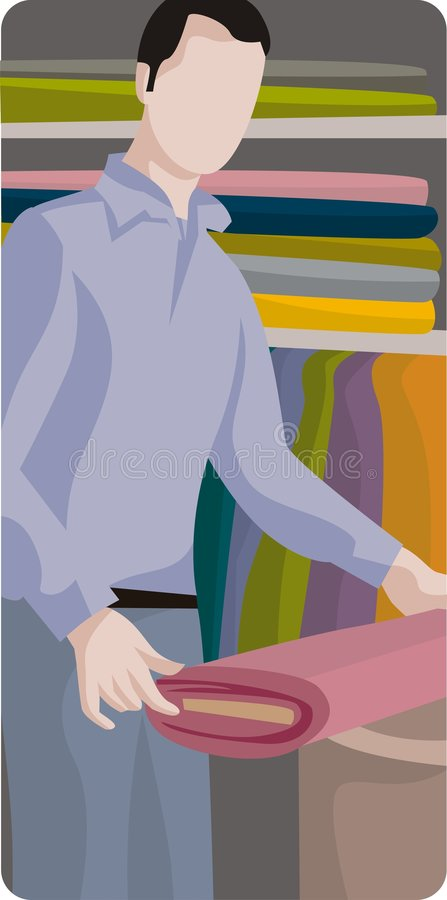 Shopping Illustration Series stock illustration