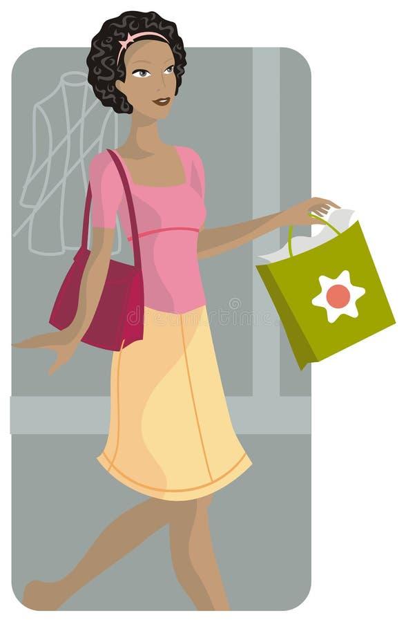 Shopping illustration series royalty free stock image