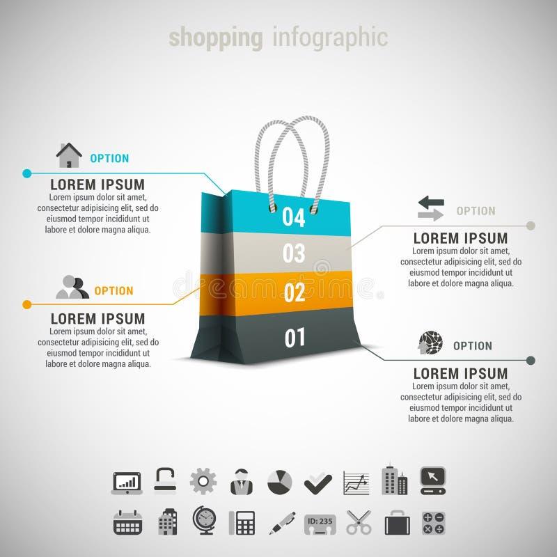 Shopping Infographic stock illustration