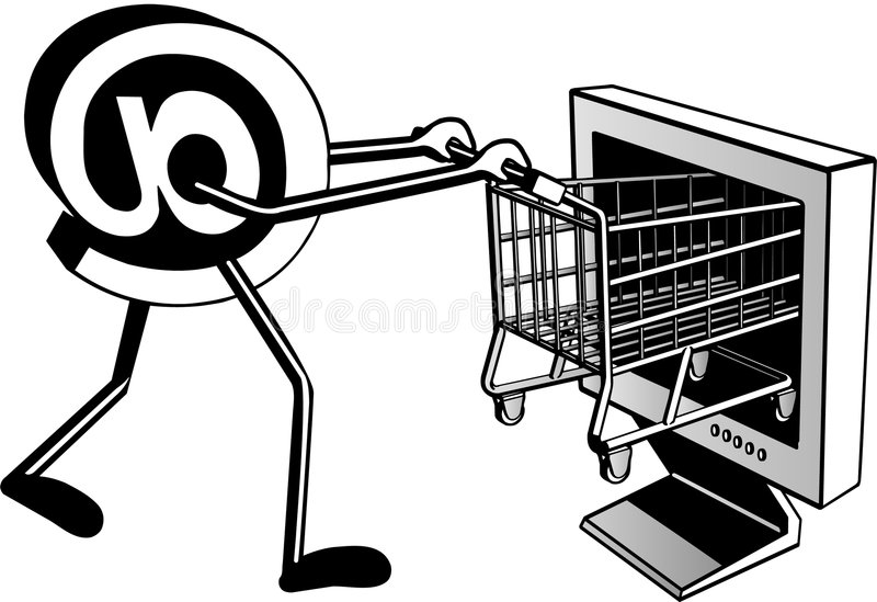 Shopping On Internet Stock Photos