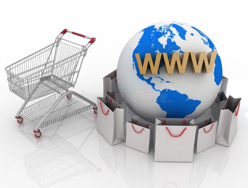 Download Shopping In Internet Royalty Free Stock Image - Image: 26160646