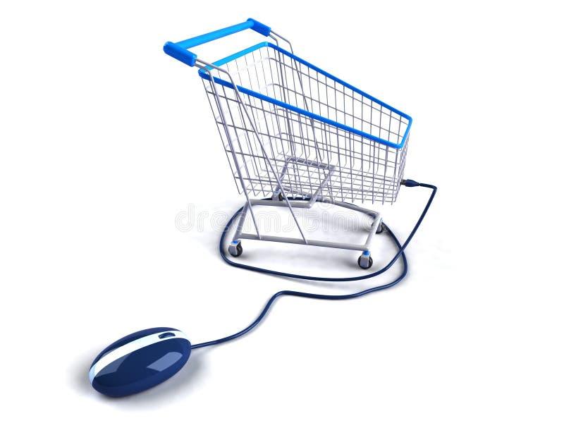 Shopping on the internet. Shopping on line vector illustration