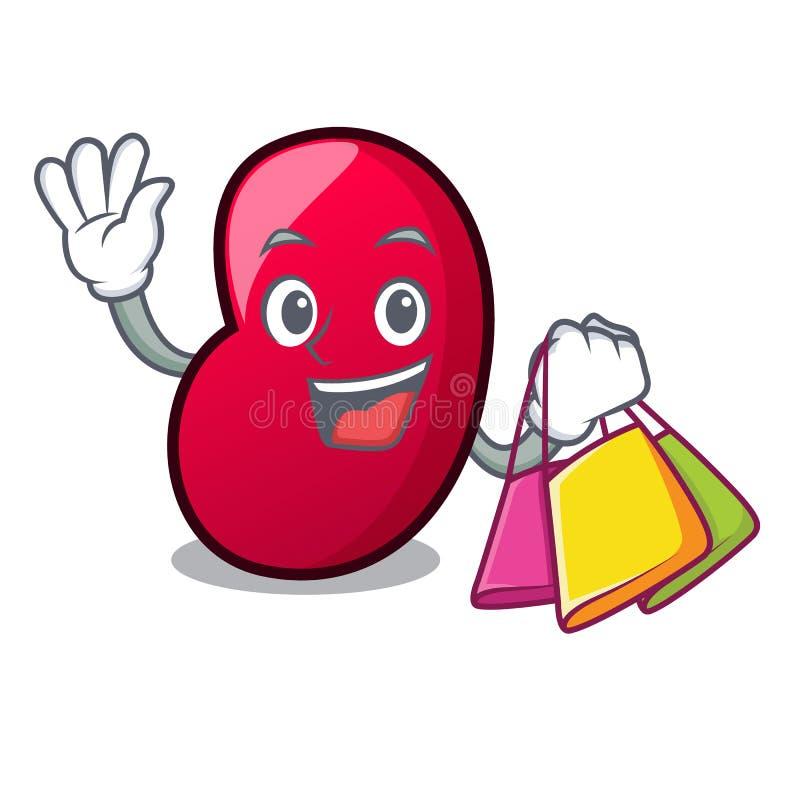 Shopping jelly bean character cartoon royalty free illustration