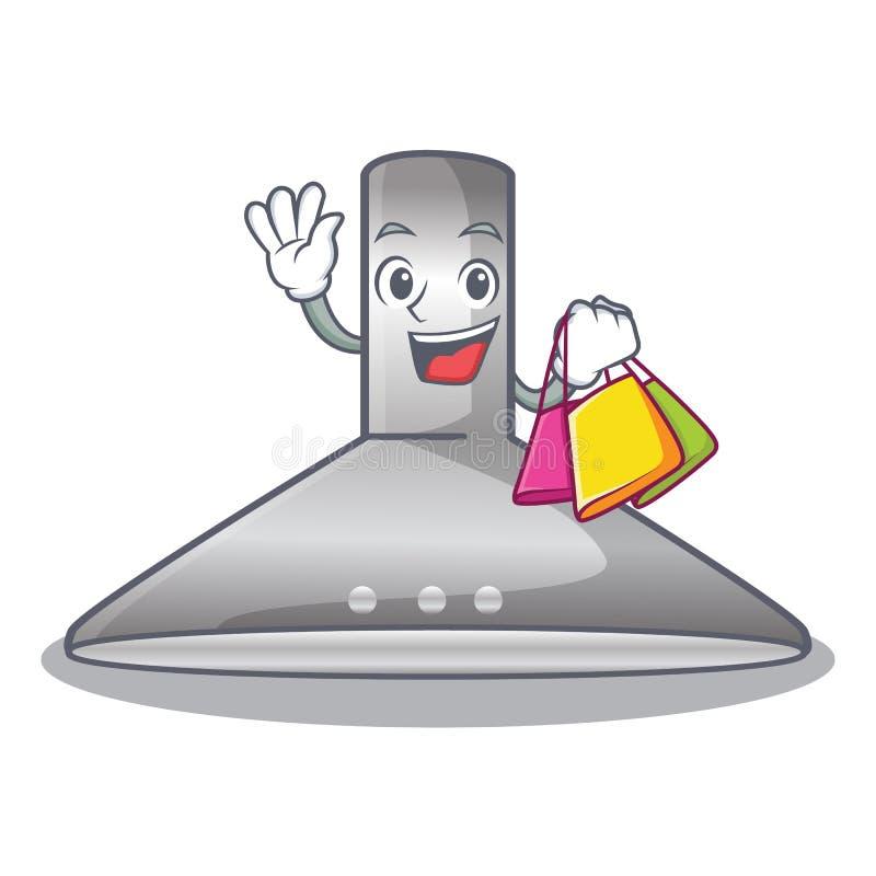 Shopping kichen hood in the mascot shape. Vector illustration royalty free illustration