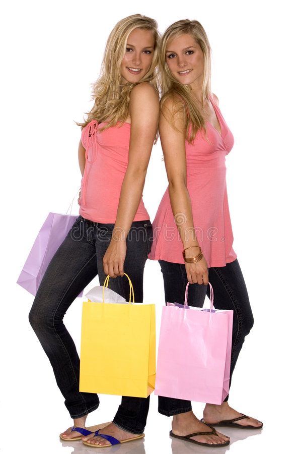 shopping kopplar samman arkivfoton