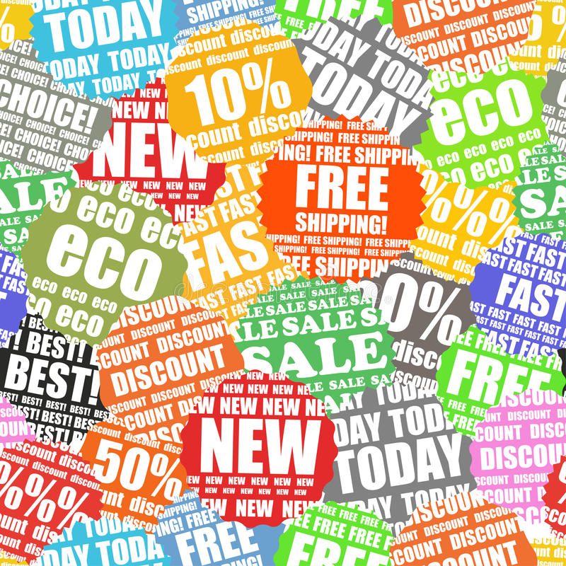 Download Shopping Labels Seamless Background Stock Vector - Image: 22382624