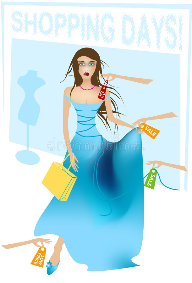 Shopping lady vector illustration