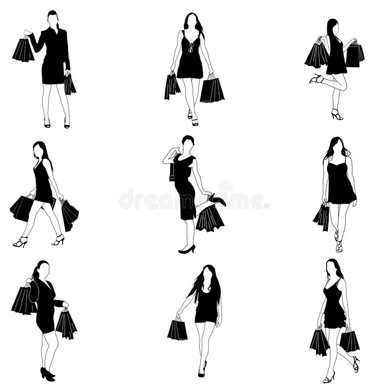 Download Shopping lady stock vector. Image of modern, graphic - 19395991