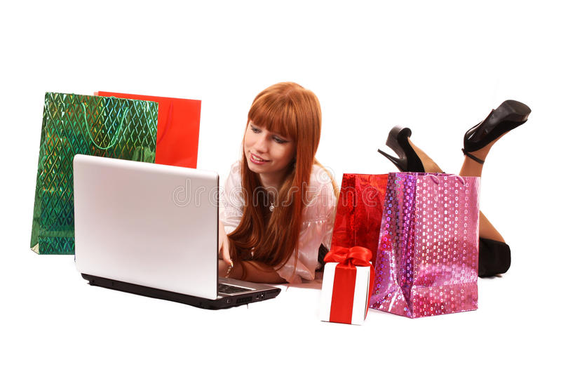 Download Shopping on-line stock image. Image of lady, consumer - 13948025