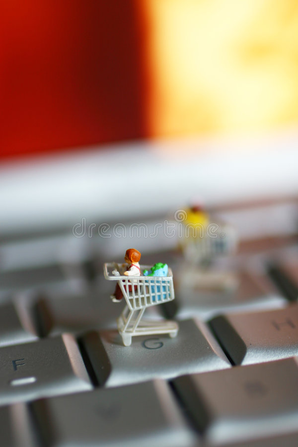 Shopping on line royalty free stock photography
