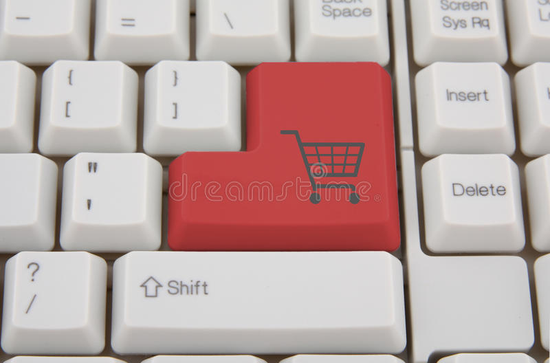 Shopping on-line royalty free stock photos