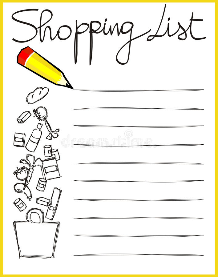 Shopping List Royalty Free Stock Images - Image: 14331279