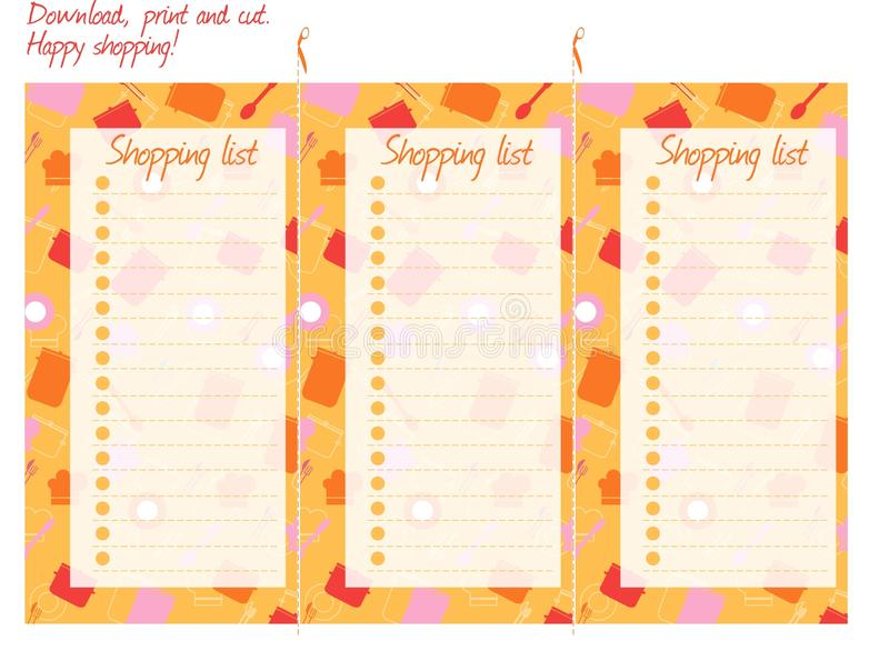 Download Shopping List, Stock Images - Image: 16221074