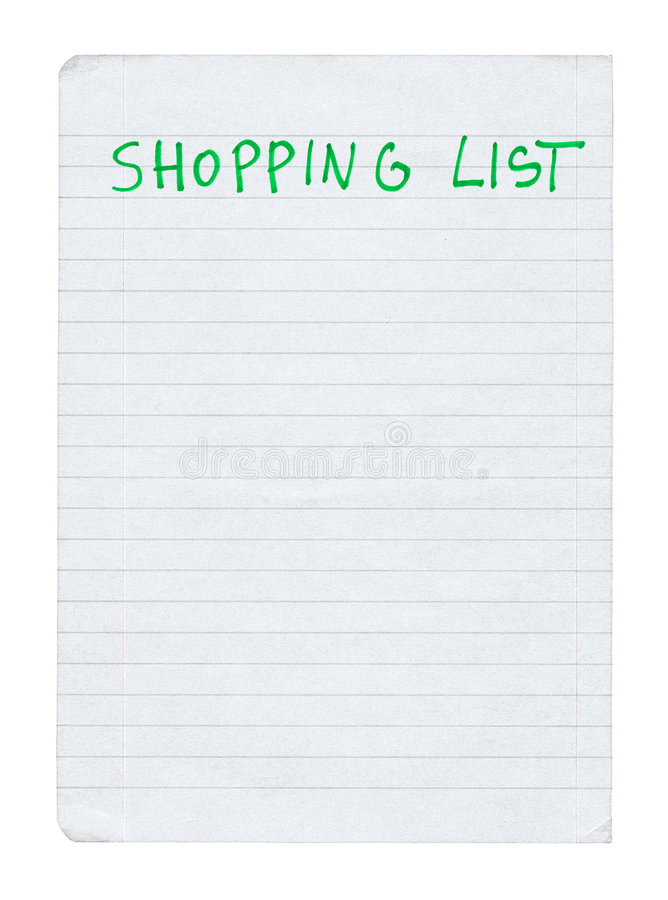 Download Shopping list stock photo. Image of memo, copyspace, notebook - 4366246