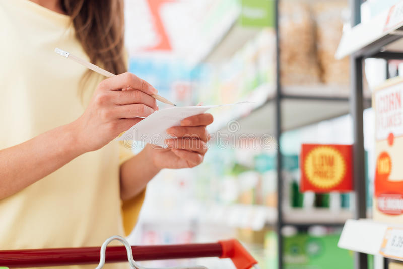 Download Shopping list stock image. Image of purchase, checking - 88880511