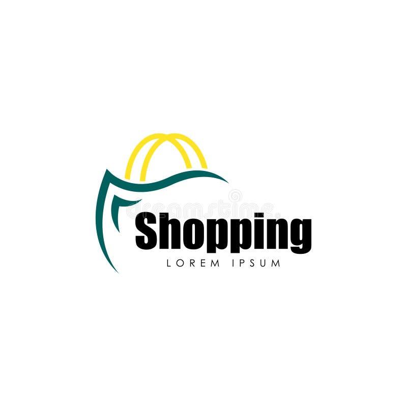 Shopping Logo Vector Art mall Affär royaltyfria foton
