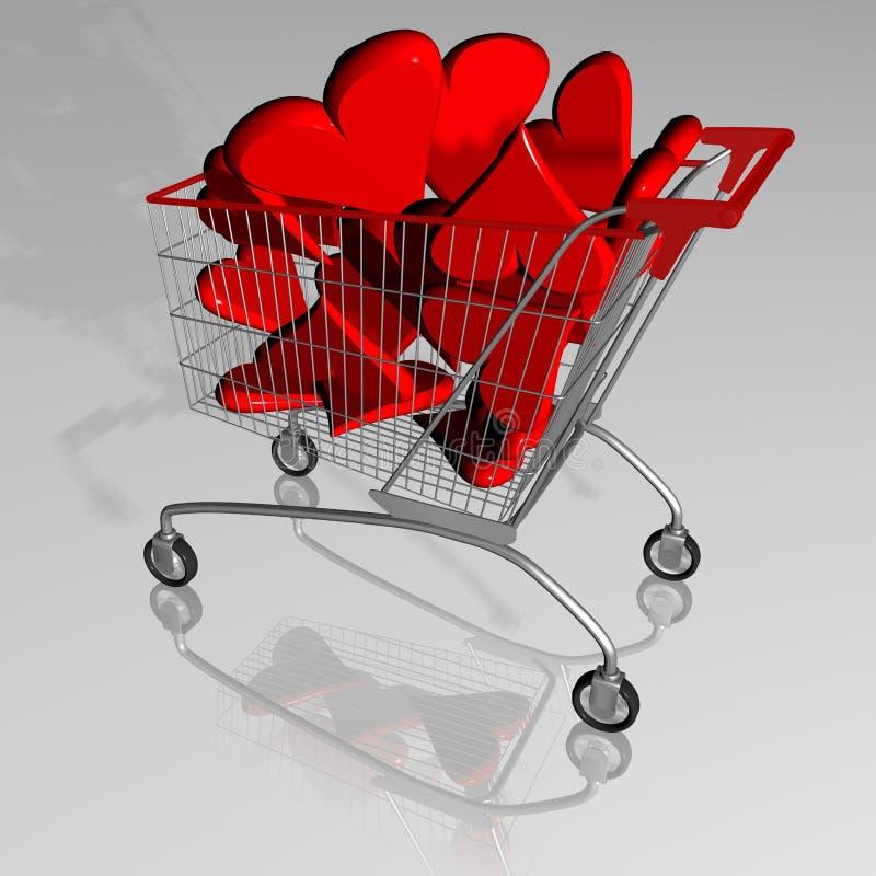 Download Shopping love stock illustration. Illustration of purchaser - 11372876
