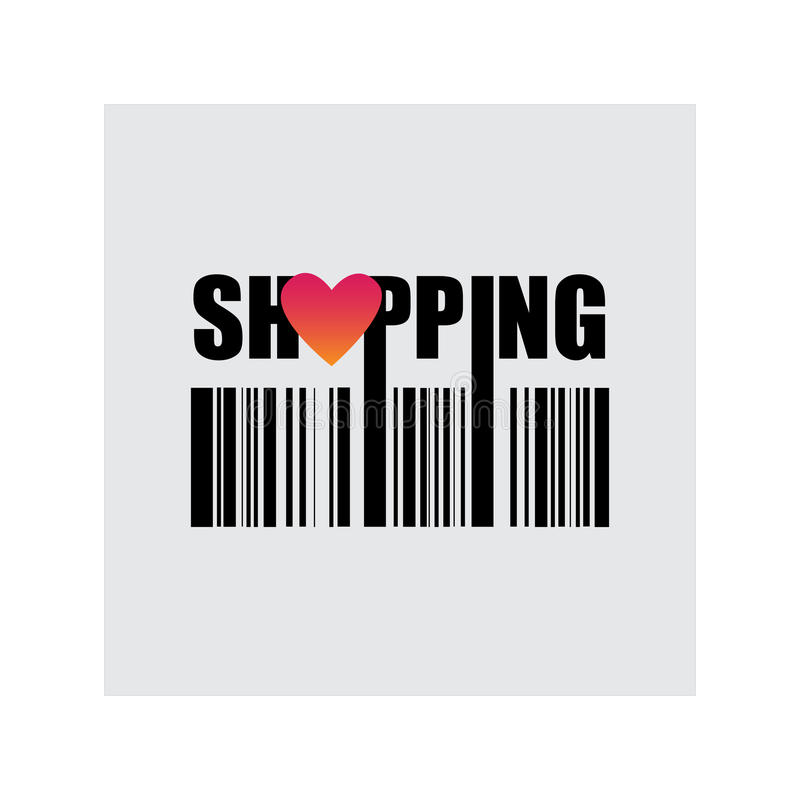 Shopping, love buy, vector illustration stock photos