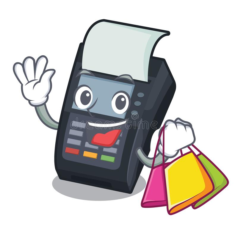 Shopping machine EDC isolated in the mascot. Vector illustration vector illustration