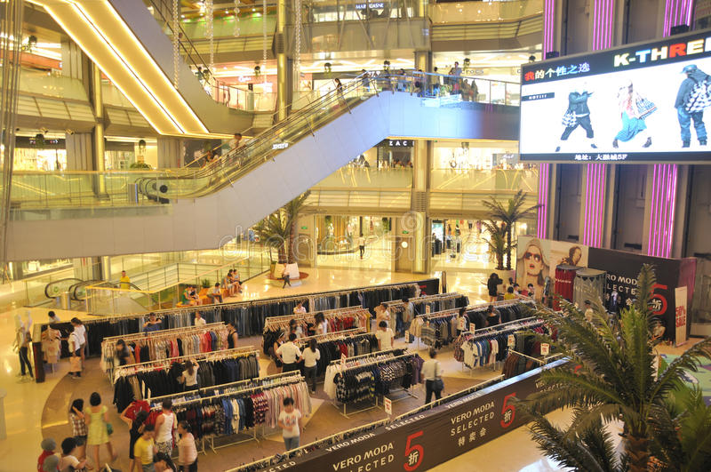 Download Shopping mall editorial stock image. Image of light, customer - 20858979