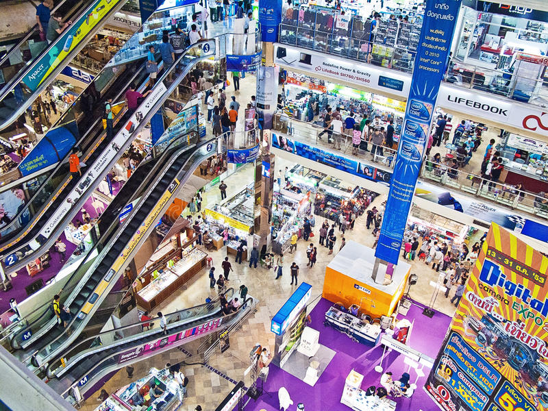 Download IT shopping mall editorial stock photo. Image of large - 20907158