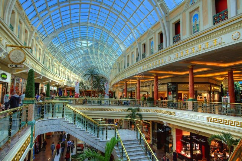 Shopping mall stock image