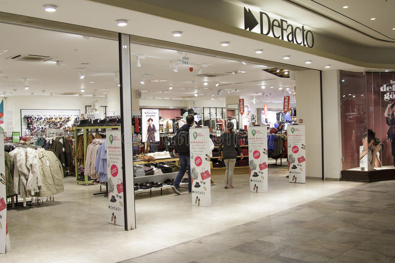 Shopping mall in Beyoglu royalty free stock image