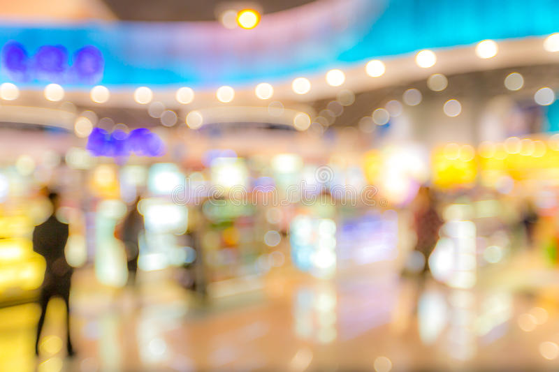Shopping mall Blurred background royalty free stock photo