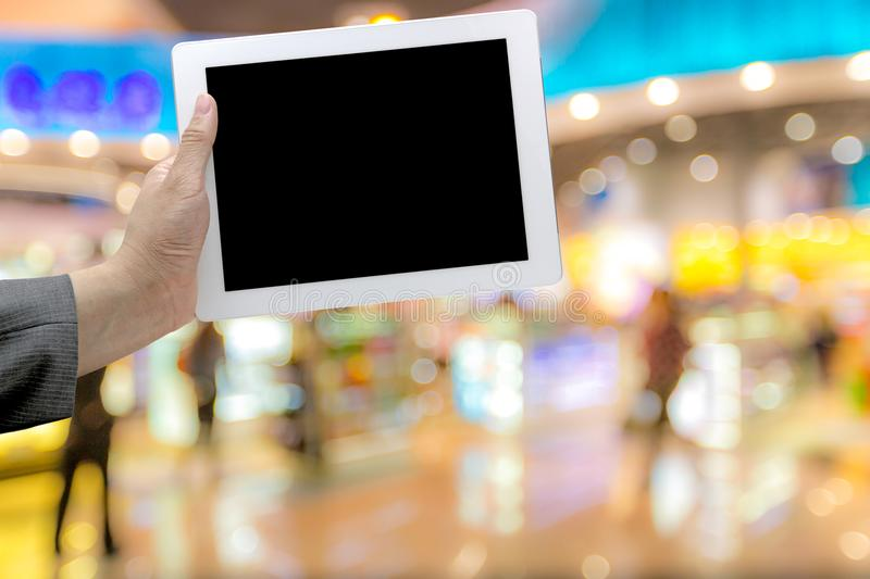Shopping mall Blurred background royalty free stock photos