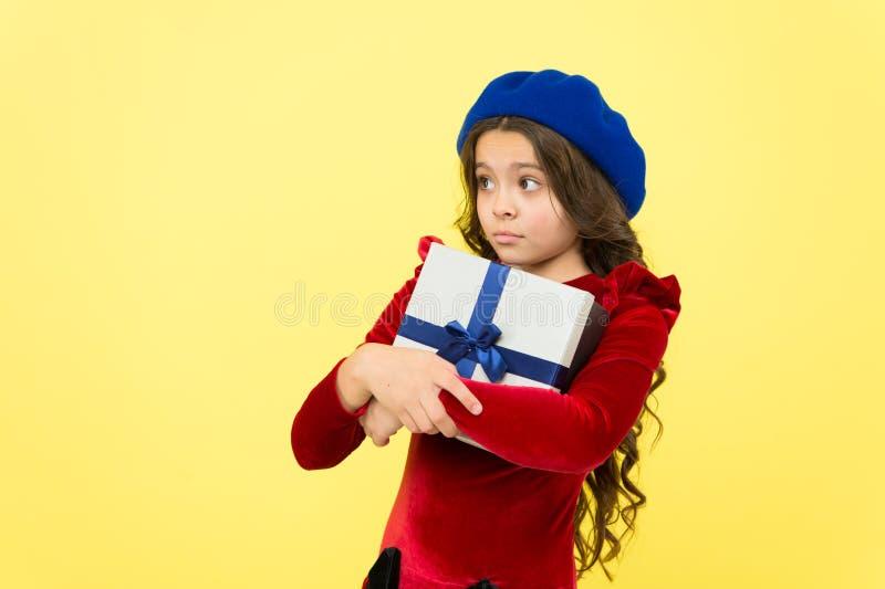 Shopping mall. boxing day. parisian girl in french beret go shopping. autumn fashion. school fall season. greedy small stock photography