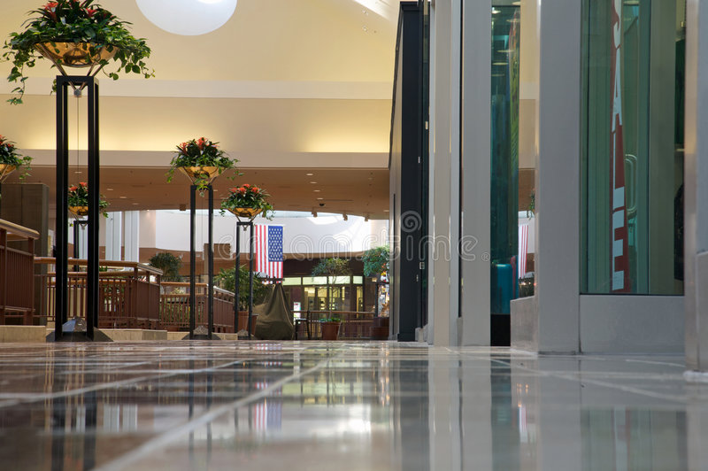 Download Shopping Mall - Bright And Clean But Empty Royalty Free Stock Photography - Image: 5890117