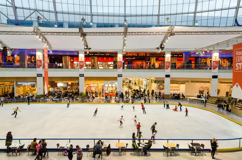 Shopping Mall Building Interior royalty free stock image