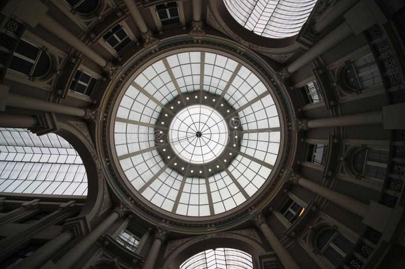 Shopping mall in the center of the city of The Hague named Passage. stock images