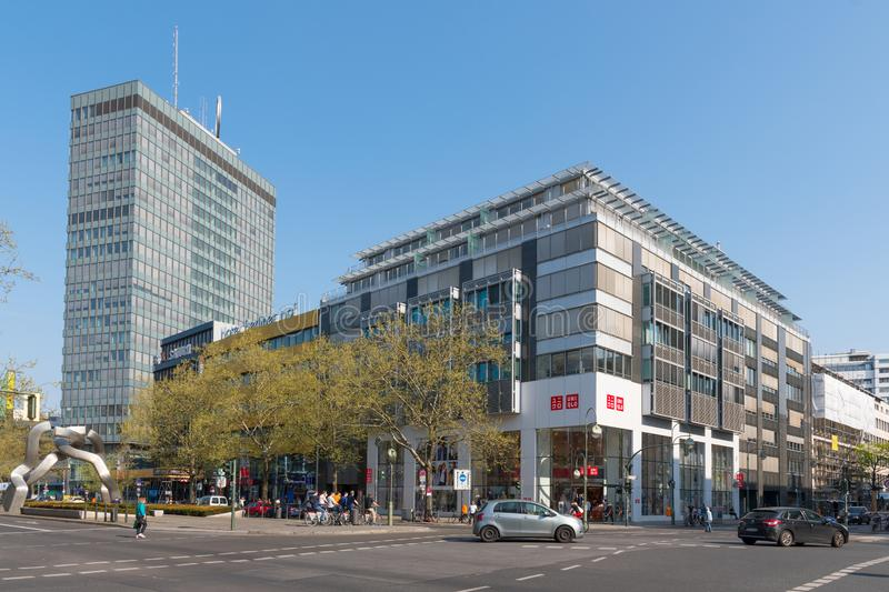 Shopping mall in city of Berlin in Germany stock photos
