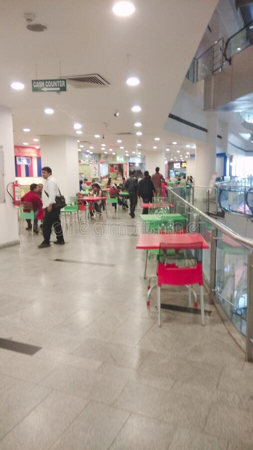 Shopping mall in durgapur , india stock photo