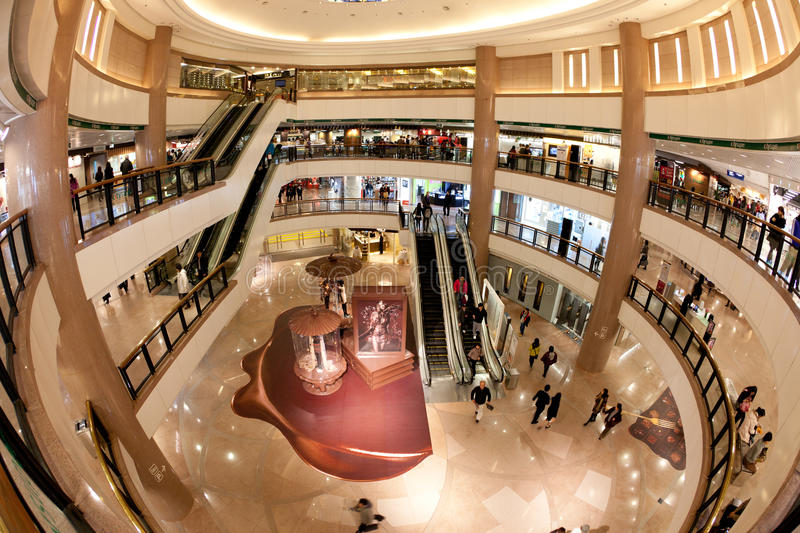 Shopping Mall : Harbour City in Hong Kong royalty free stock photography