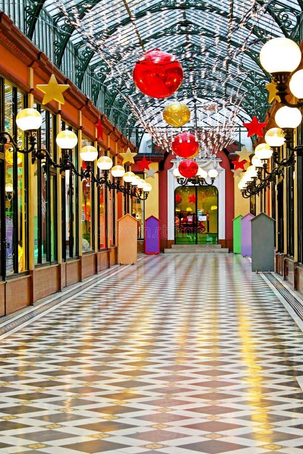 Shopping mall interior stock photos