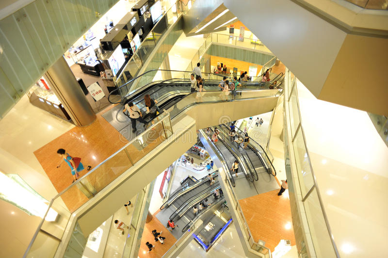 Download Shopping mall  interior editorial image. Image of busy - 20107205