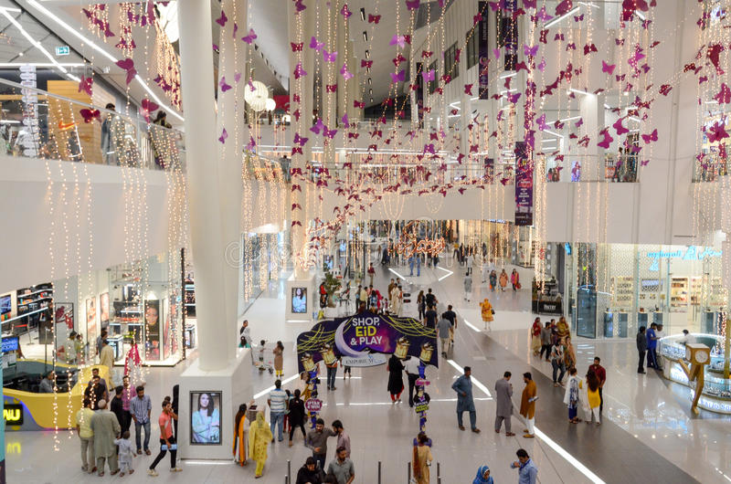 Shopping Mall Interiors royalty free stock image