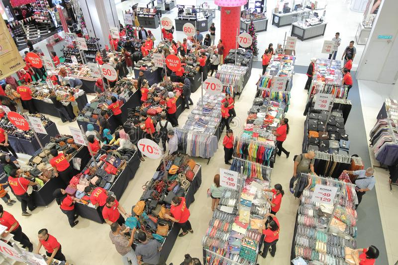 Shopping mall Kuala Lumpur Malaysia. People visit Sogo shopping mall in Kuala Lumpur Malaysia stock photo