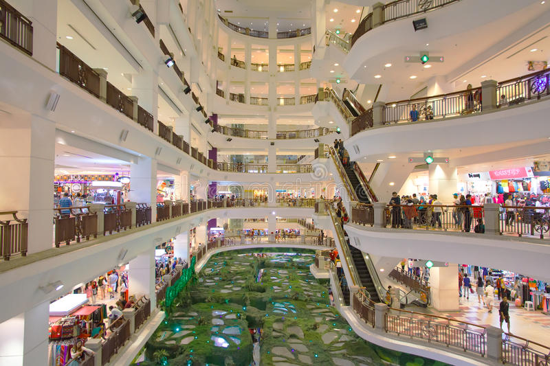 People in a shopping mall royalty free stock photography
