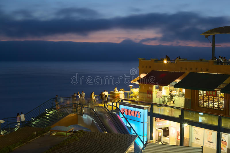 Shopping Mall Larco Mar in Lima, Peru royalty free stock images