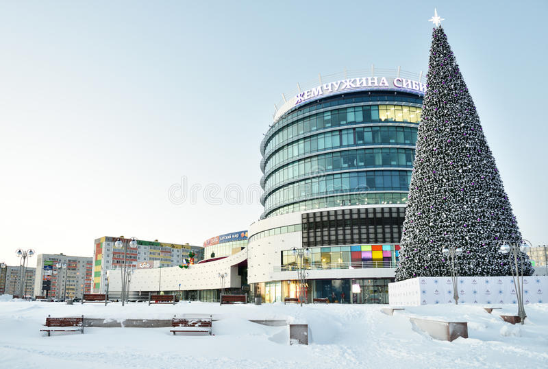 Shopping mall Pearl Of Siberia in Tobolsk, Russia royalty free stock photos