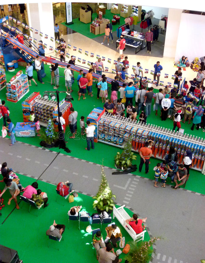 Shopping mall. Residents shopped at the mall during the holidays in Sukoharjo, Central Java, Indonesia stock photos