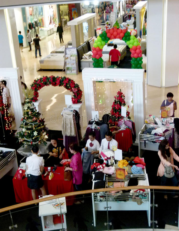 Shopping mall. Residents shopped at the mall during the holidays in Sukoharjo, Central Java, Indonesia stock images
