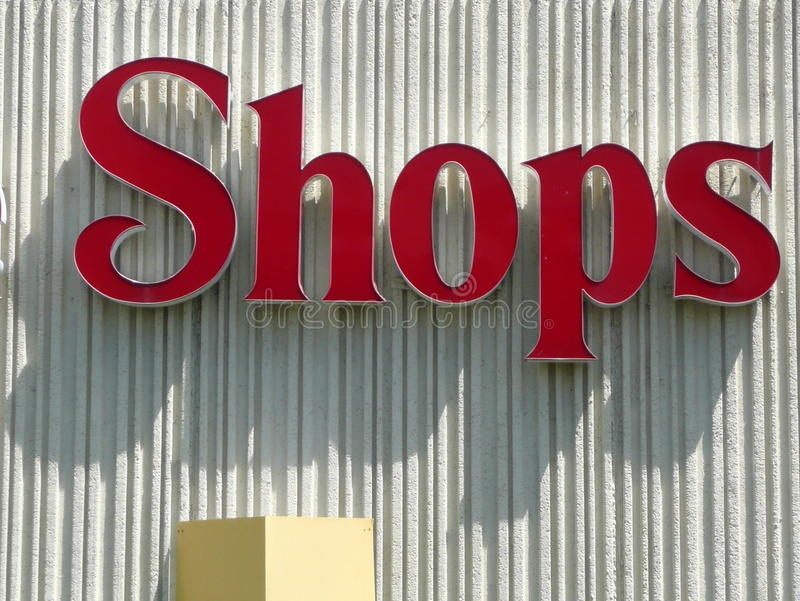 Shopping Mall Sign Royalty Free Stock Images