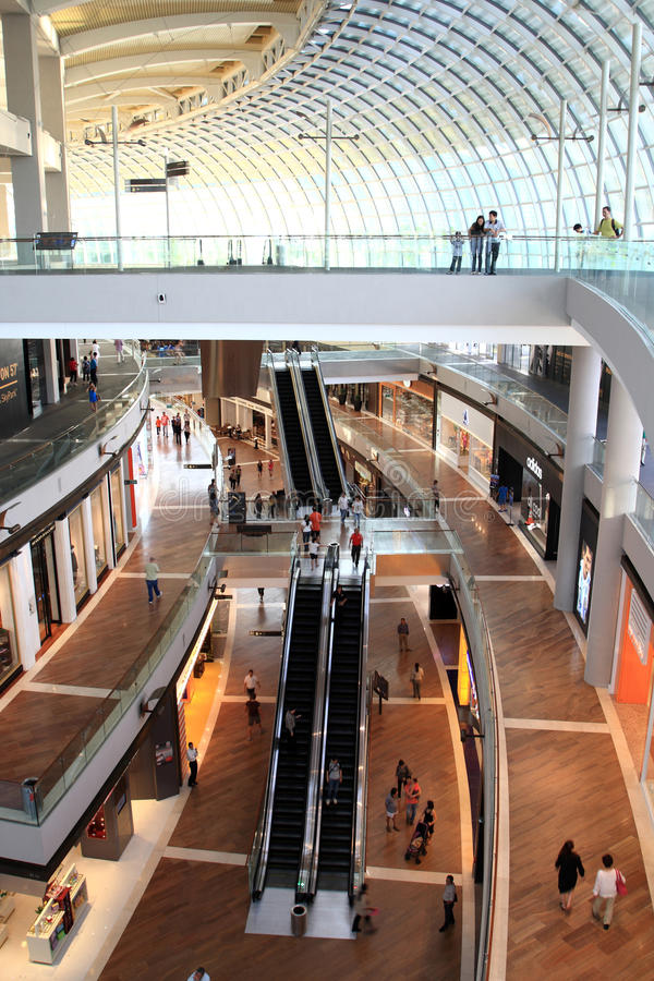 Shopping mall,Singapore stock images