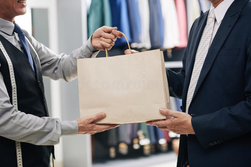Shopping man stock photography