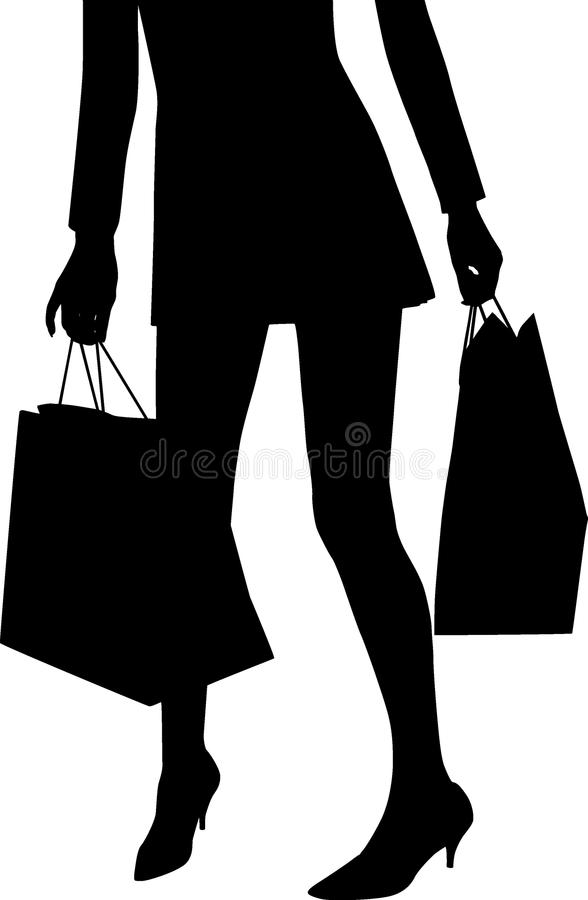 Shopping mania royalty free stock images