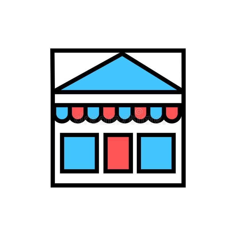 Shopping, market icon stock illustration